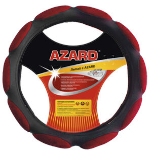 """Чехол на руль """"AZARD спонж 10"""" ОПЛ00088 L, d=40см, красный"""