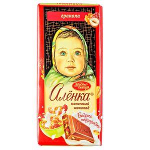 Шоколад Аленка Гранола 90 г 1уп.х 14шт.