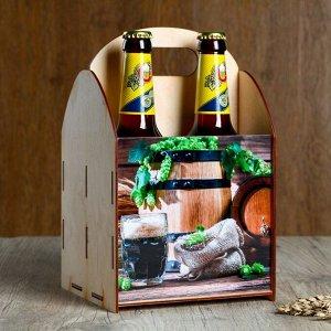 "Ящик под пиво ""Бочка"" зерно"