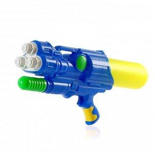 Водный пистолет «Трипл», 3 ствола, с накачкой, 47 см