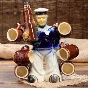 """Набор для вина """"Моряк с бутылкой"""", 7 предметов: штоф 0.75 л, рюмки 0.1л"""