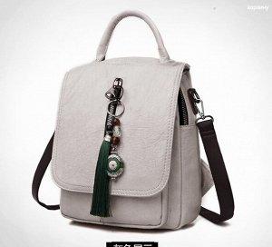 Сумка-рюкзак,светло-серый
