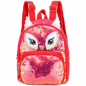2152MT-3 крас Рюкзак для девочек (23х16х10)