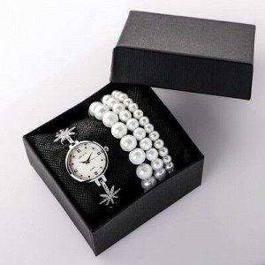 """Подарочный набор 2 в 1 """"Grealy"""": наручные часы и браслет"""