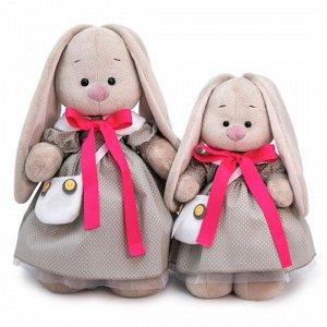 Зайка Ми в платье и с сумкой-сова  (большой) мягкая игрушка