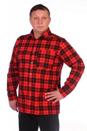 Рубашка Фланелевая рубашка на пуговицах. Рукава втачные на манжете. Воротник на отрезной стойке. Один накладной карман. Расцветки в ассортименте. состав: фланель-100% хлопок