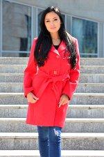 Пальто 18920  (красный)