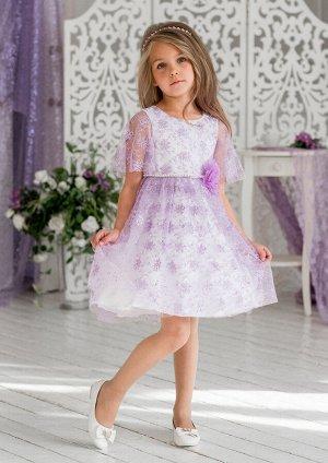 Милана нарядное платье сиреневый.