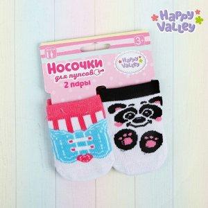 Одежда для пупсов «Панда»: носочки, набор 2 пары