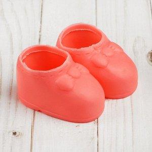 Ботинки для куклы «Бант», длина подошвы: 7,6 см, 1 пара, цвет розовый