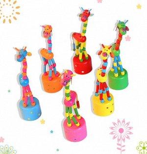 Деревянная игрушка танцующий жираф