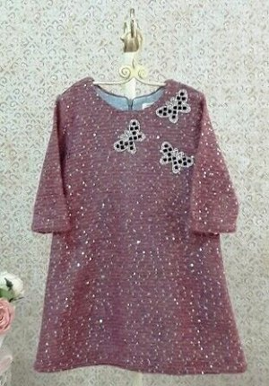 Платье с пайетками Бабочки 636-ПБр