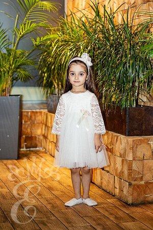 Кружевное платье с фатиновой юбкой Ободок 91078ПОп
