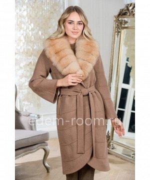 Осенне-весеннее пальто с мехом песцаАртикул: N-5274-110-KR-P