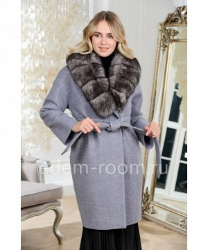 Теплое пальто с мехомАртикул: AR-142-95-SR-P