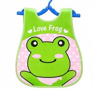 Нагрудник Удобный детский нагрудник, декорированный красивым ярким принтом. Надежно защищает одежду малыша от загрязнений С таким нагрудником одежда Вашего малыша во время кормления всегда будет чисто