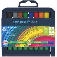 """Набор капиллярных ручек (фломастеров) Schneider """"Link-It"""" 08цв., 1,0мм, европодвес"""
