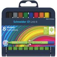 """Набор капиллярных ручек Schneider """"Link-It"""" 08цв., 0,4мм, европодвес"""