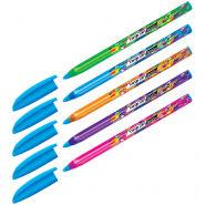 """Ручка шариковая Berlingo """"Triangle 100T Elements"""", синяя, 0,7мм, трехгран., игольчатый стержень"""