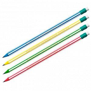 """Карандаш ч/г Bic """"Evolution Stripes"""" HB, с ластиком, заточен., пластиковый"""
