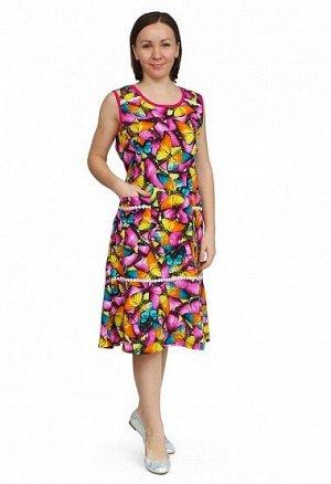 Платье Белла М 437 Бабочки