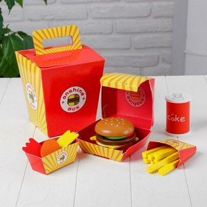 Набор продуктов «Быстрое питание»15*15*17 см