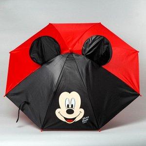 Зонт детский с ушами «Микки Маус» ? 70 см 2919719