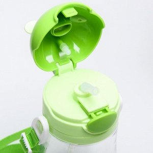 Поильник с силиконовой трубочкой, 500 мл., цвет зеленый