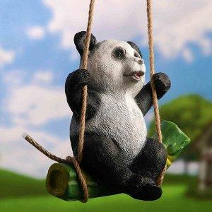 "Подвесной декор ""Панда на бамбуке"" 24х15х25см"
