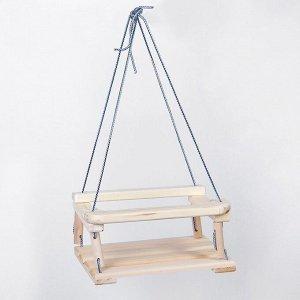 Качели детские подвесные, деревянные, сиденье 30?40см