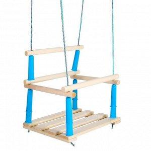 Качели детские подвесные, деревянные, сиденье 33?22см, МИКС