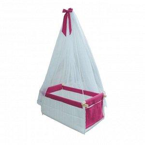 Подвесная детская кровать-колыбель «Веста», цвет малиновый