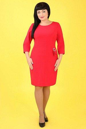 Красный Примечание: замеры длин соответствуют размеру 52. Длина платья: 94 см. Длина рукава: 47 см. Подкладка: нет. Застежка: потайная молния сбоку. Декор: пряжка. Состав: вискоза 70%, спандекс 20%, п