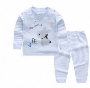 Пижама Размерную сетку см в доп фото. Комплект домашний -пижама из  хлопка с принтом. Вырез горловины круглый. По низу рукавов и брюк удобные манжеты.