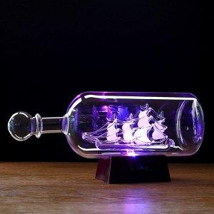 Корабль сувенирный в бутылке с белыми парусами «Корабль удачи», 10 ? 29 ? 13,5 см