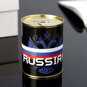 "Копилка-банка металл ""Russia"" 7,3х9,5 см"