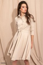 Однотонное платье-мини