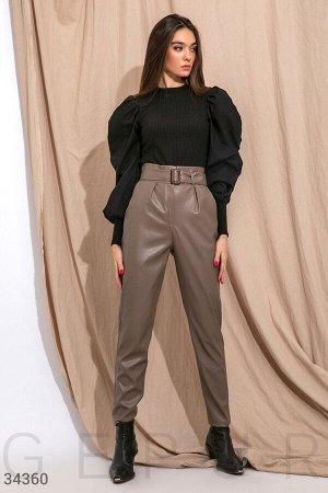 Лаконичные кожаные брюки