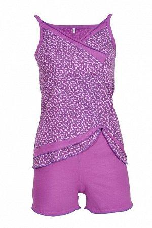 Пижама женская, цвет сирень