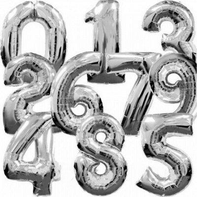№155 =Территория праздника-организуем праздник сами — Воздушные шары из фольги-Цифры — Воздушные шары, хлопушки и конфетти