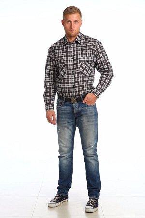 """Мужская рубашка мужская бязевая - длинный рукав """"Классик"""""""