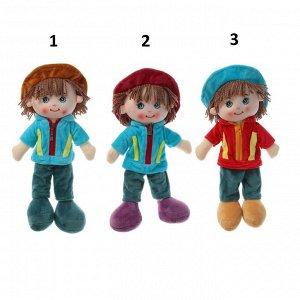 Кукла текстиль Паренек в шляпке 35 см 2272239