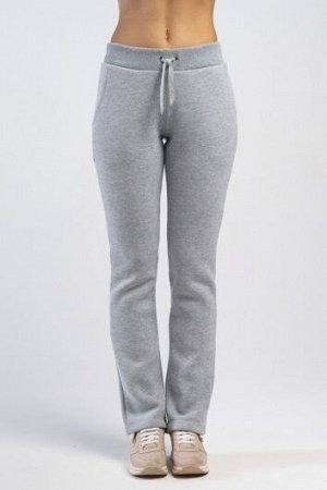 Брюки спортивные плотные серый меланж 48 размер