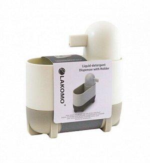 """""""Clean Kit"""" Диспенсер для моющего средства c подставкой для губки16,5х7х18см HB8409ST ВЭД"""