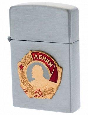 Металлическая зажигалка с орденом Ленина (газовая) - прочный корпус, эксклюзивный дизайн
