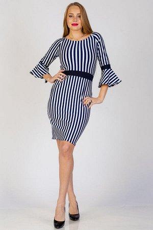 Платье П 270 (Синяя полоса)