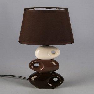 "Светильник ""Желание"" коричнево- белый 1x25W E14 12.5x19.5x31 см"