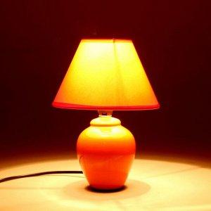 """Лампа настольная с абажуром """"Ваза"""" E14. 220V 17х17х25 см"""