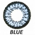 Перекрывающие цветные контактные линзы HERA DREAM Blue -4.5 BC 8.6 (2 линзы)