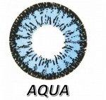 Перекрывающие цветные контактные линзы HERA DREAM Aqua -3.0 ВС 8.6 (2 линзы)